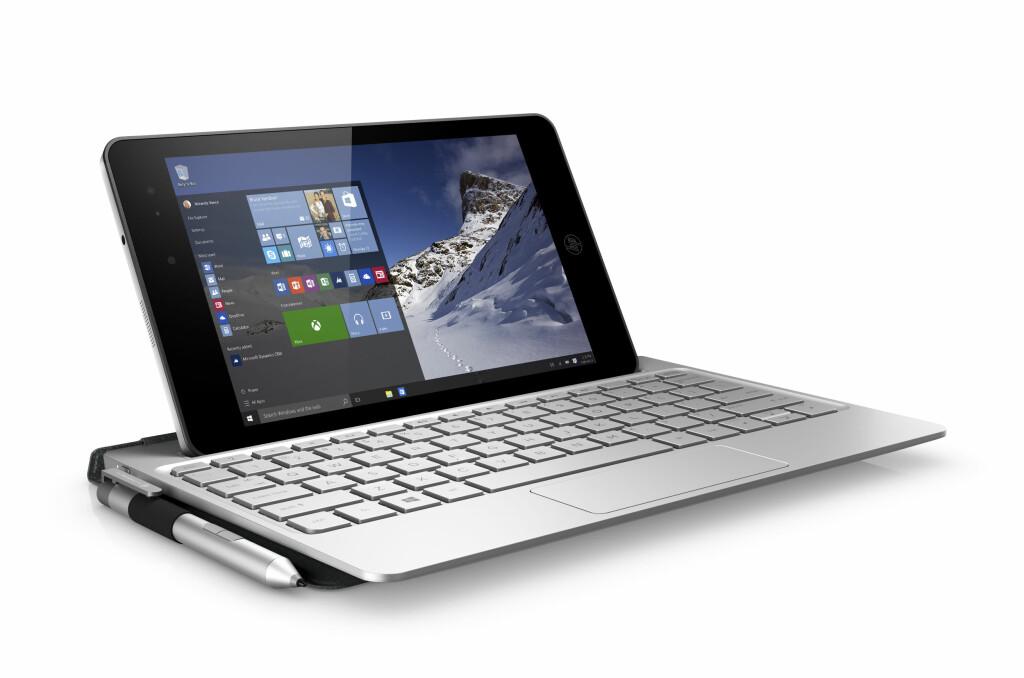 <B>LØSNINGEN:</B> Skal du være produktiv på et nettbrett, må du ha et tastatur som er større enn brettet, mener HP</B> Foto: HP