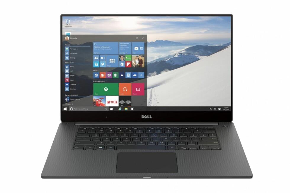 TYNN KANT: Allerede i neste uke blir Dell XPS 15 til salgs i Norge. Foto: DELL