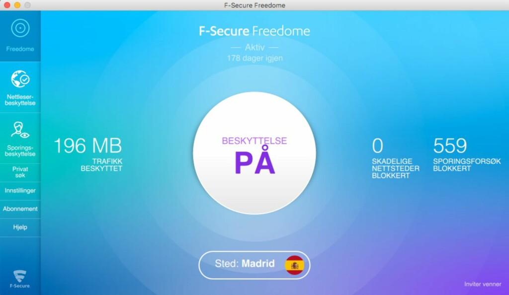 I SPANIA: Med VPN-tjenesten Freedome fra F-secure (og mange andre) kan du late som om du befinner deg et helt annet sted på kloden.