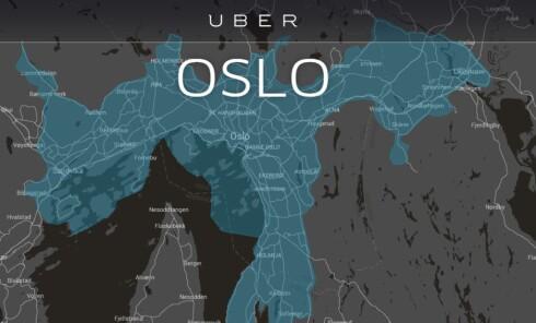 PÅ PLASS I OSLO: Uber mener at de ikke driver med yrkestransport, og at de dermed driver helt lovlig. Foto: UBER