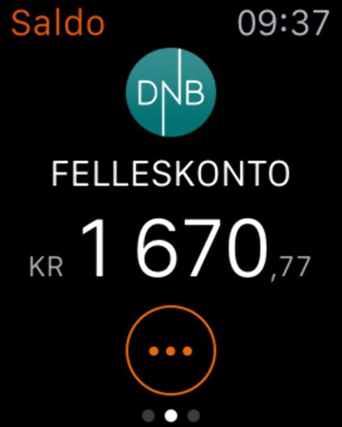 SMARTKLOKKE-BANK: DnB er blant bankene som har app til Apple Watch. Foto: KIRSTI ØSTVANG