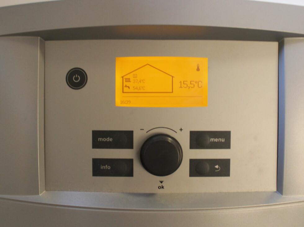 TEMPERATUR:  Denne funksjonen gjør det mulig å følge med på vanntemperaturen. Foto: HANNA SIKKELAND