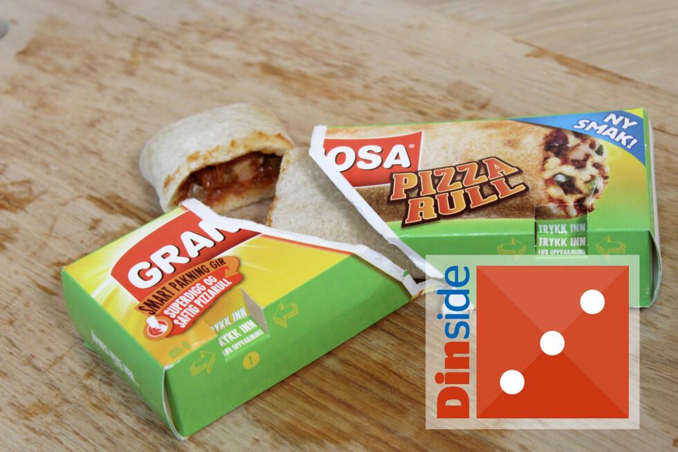 PIZZARULL: Innbakt Grandiosa med tacosmak som varmes i mikro. En rull er nok til en person, veier 155 gram og har 349 kcal. Foto: OLE PETTER BAUGERØD STOKKE