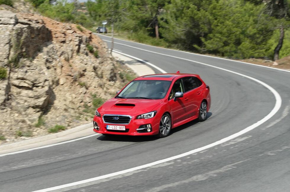 RART NAVN: Levorg er nytt modellnavn hos Subaru og står for en kreativ forkortelse av LEgacy-reVOlution-touRinG. Ikke helt innlysende ... Foto: KNUT ARNE MARCUSSEN