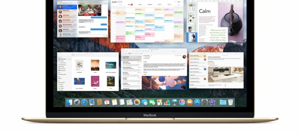 KOMMER I DAG: 30. september kan Mac-eiere laste ned neste versjon av OS X; El Capitan. Foto: APPLE