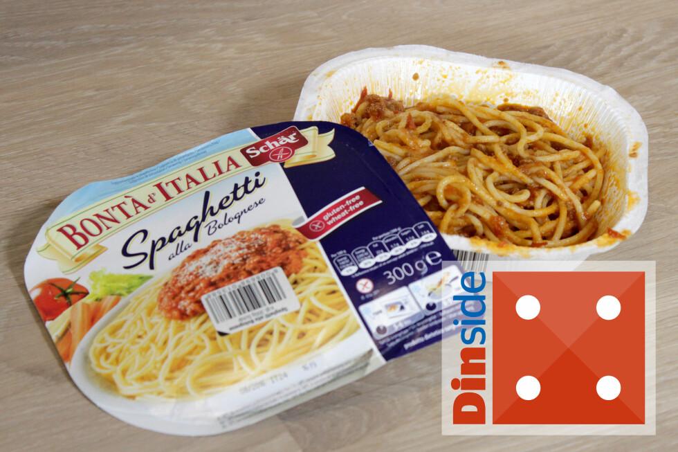 SPAGHETTI BOLOGNESE: Tamt, men godt. 1 porsjon (300 g), 506 kcal. Foto: OLE PETTER BAUGERØD STOKKE