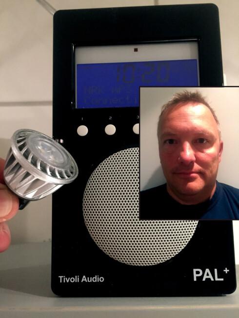 LED-TRØBBEL: Da Rune Seppola byttet ut halogenlampene med LED, startet problemene. Foto: RUNE SEPPOLA