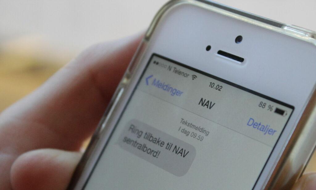 image: NAV advarer mot svindel-SMS
