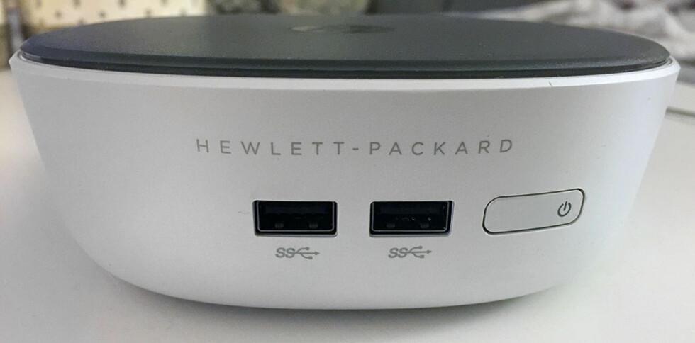 To USB 3.0-porter i fronten. Foto: BJØRN EIRIK LOFTÅS