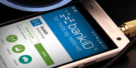 Stat og kommune med BankID på mobilen
