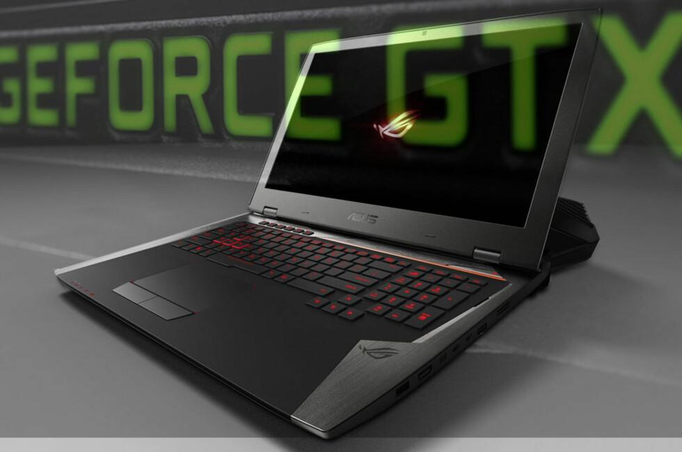 RÅSKINN: Asus er en av PC-produsentene som kommer med en modell med GTX 980. Det skjer i løpet av høsten. Foto: ASUS/Dinside