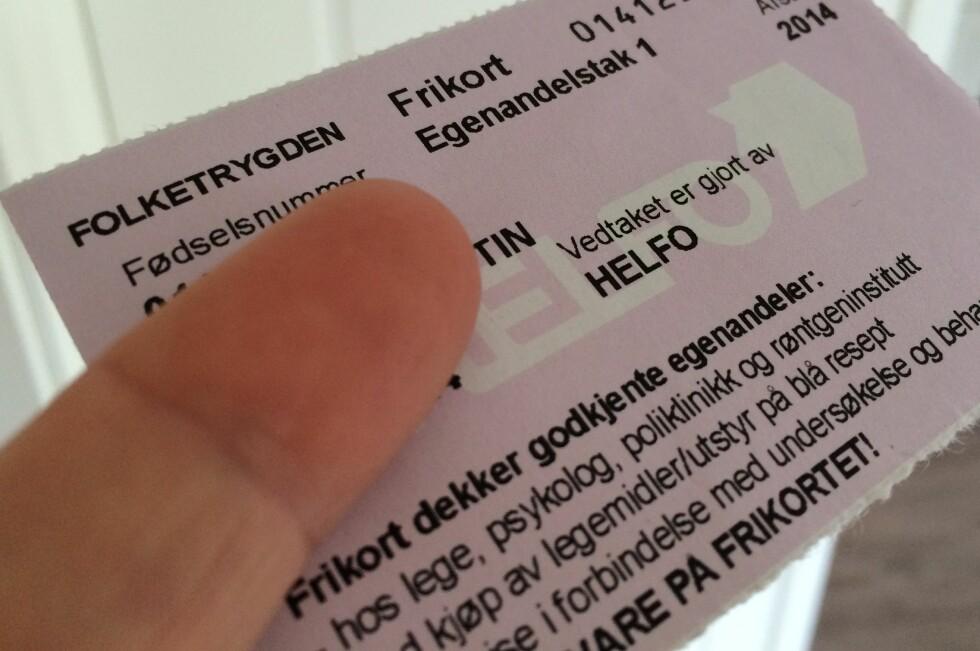 STORE SUMMER:  I fjor ga småsummene fra frikortordningen staten en inntekt på 51 millioner kroner. Foto: KRISTIN SØRDAL