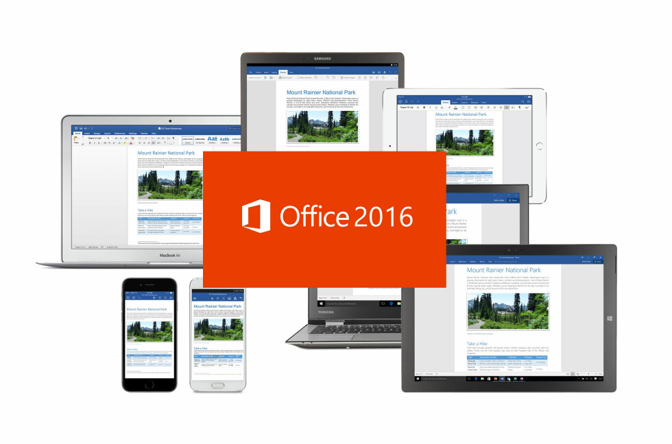 OFFICE OVERALT: Microsoft Office er ikke lenger forbeholdt PC-er, men skal kunne brukes på alle aktuelle plattformer.