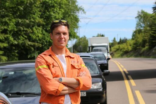 VIL FORHINDRE KAOS I FREMTIDEN: Andreas Wahl ønsker å sette fokus på alternative transportmidler for å gjøre alles hverdag lettere. Foto: NAF