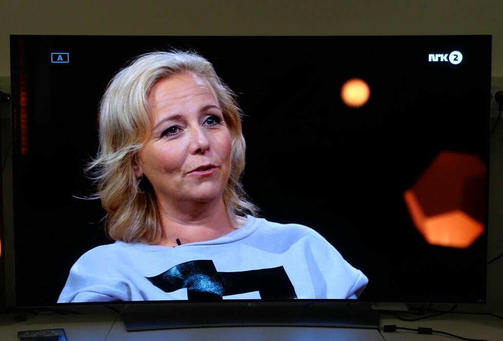TV-SENDINGER: Er inngangskilden av ok kvalitet, blir også det oppskalerte TV-bildet bra. Her Linn Skåber på NRK. Foto: ØYVIND PAULSEN