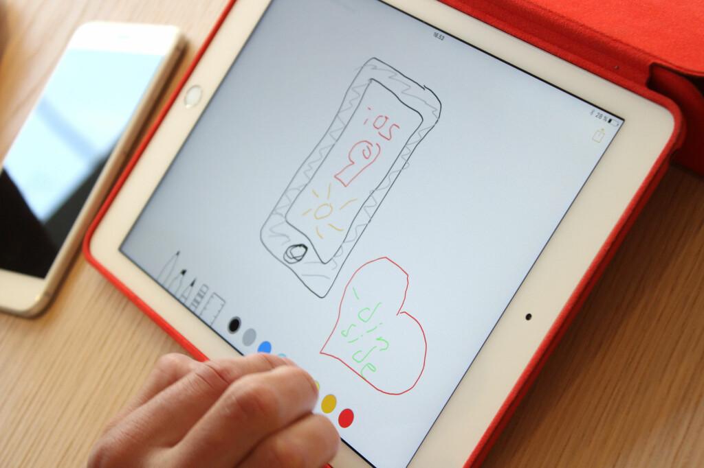 LAG SKISSER: Apples notatapp får tegnemuligheter.  Foto: KIRSTI ØSTVANG