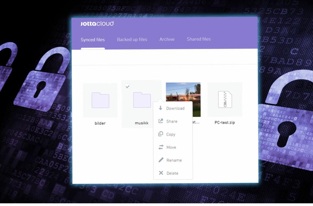 <B>NY OG INTERAKTIV</B>: Det nye webgrensesnittet til skylagringstjenesten Jottacloud. Foto: DINSIDE