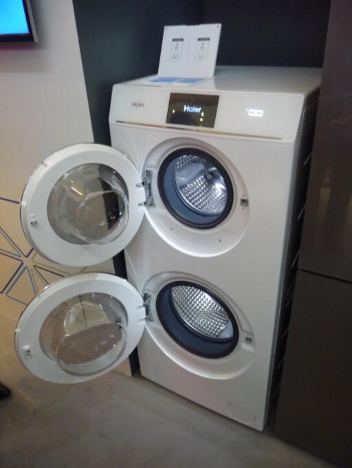 DOBBELVASK: Haier lar deg vaske to separate vasker på én gang. Foto: ØYVIND PAULSEN