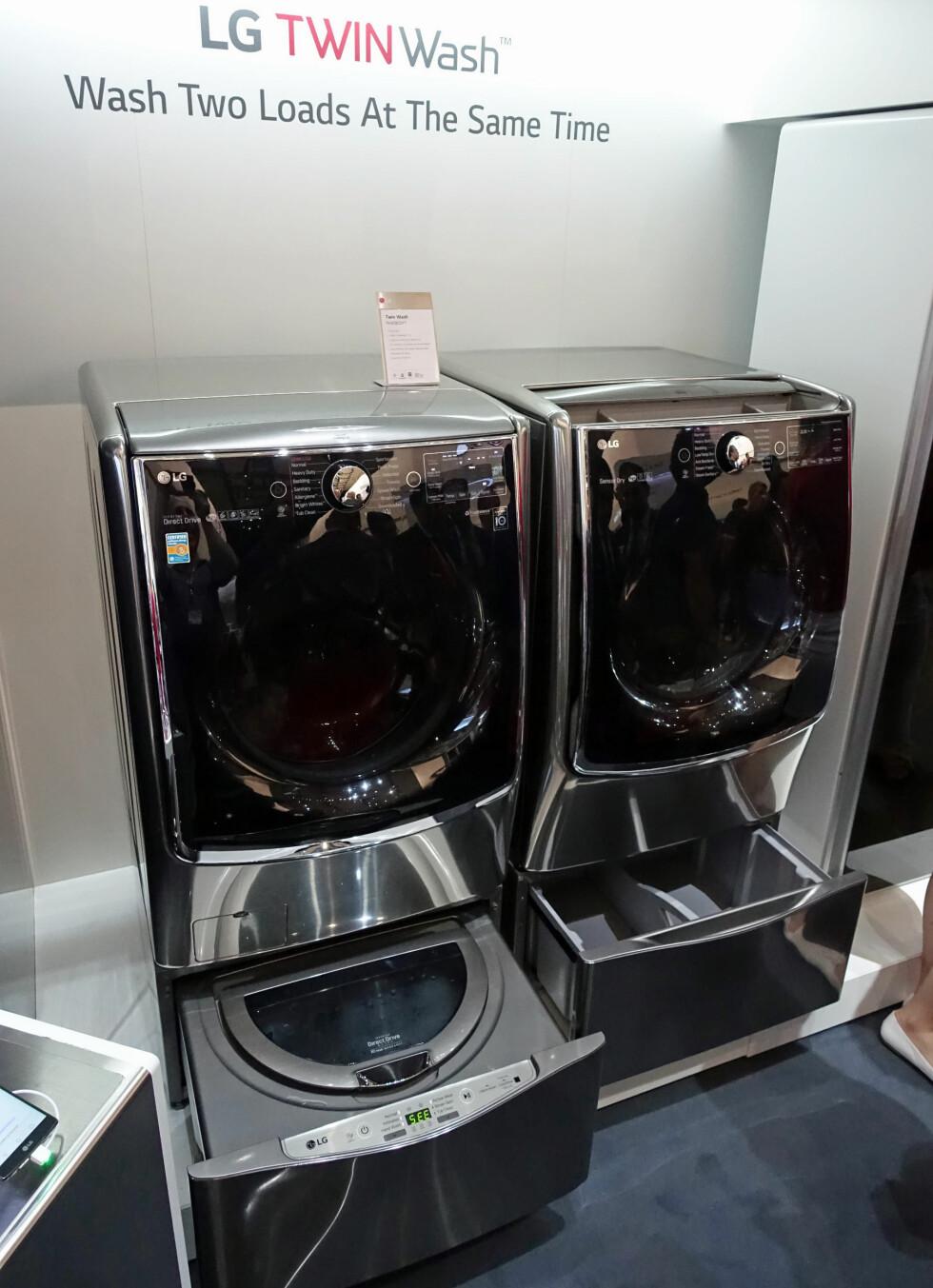 DAGENS DOBBEL? Vaskemaskinen til venstre, og den matchende tørketrommelen til høyre. Foto: ØYVIND PAULSEN