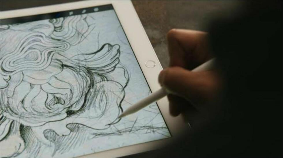 Med Apple Pencil blir det enklere å drive med presisjonsarbeid på iPad-en. Foto: APPLE