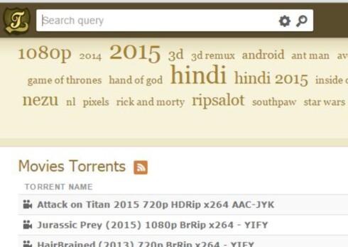 MEST POPULÆR: Kickass Torrentz  topper statistikken over de mest populære fildelerne. Likevel blir ikke siden sperret i Norge. Foto: KICKASS TORRENTS