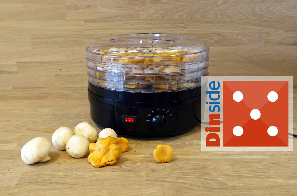 <b>KONSERVERING:</b> Vi har lange tradisjoner for å tørke matvarer for at de skal holde lenger, denne sopp- og frukttørkeren fra Clas Ohlson løser oppgaven på kjøkkenbenken. Foto: ELISABETH DALSEG