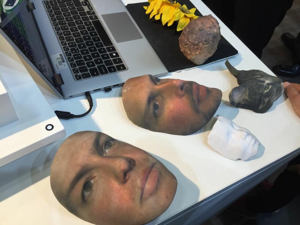 MADAME TUSSAUD NESTE: 3D-modeller fra Scanify som er printet med en avansert 3D-printer. Foto: BJØRN EIRIK LOFTÅS