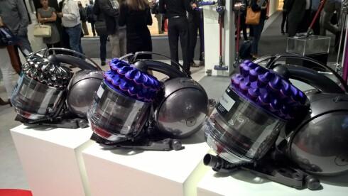 DYSON: De er kanskje ikke verdens beste støvsugere, men du verden så tøffe de ser ut! Foto: TORE NESET