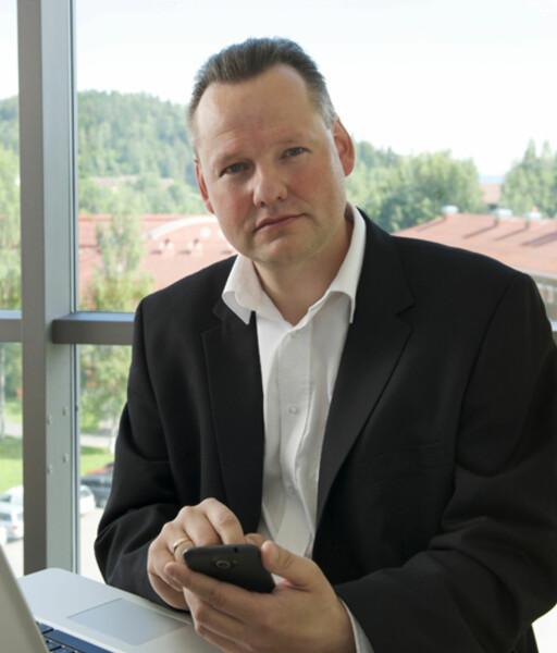 - MÅ BALANSERE BRUKERVENNLIGHET OG SIKKERHET: Vidar Sandland, sikkerhetsekspert ved Norsk senter for informasjonssikring (NorSIS). Foto: JAN TORE VERSTAD/NORSIS
