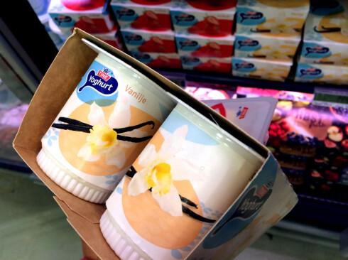 MYE BILLIGERE! Dette er mye billigere enn å bestille skoleyoghurt med vaniljesmak - om du ikke må ha laktosefrie produkter. Foto: KRISTIN SØRDAL