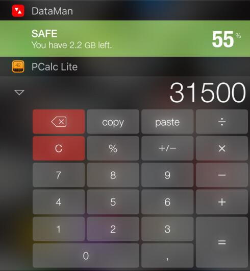 HVOR MYE? Sjekk dataforbruket med DataMan, eller gjør en beregning med PCalc Lite. Foto: KIRSTI ØSTVANG