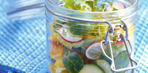 image: Putt salaten på glass