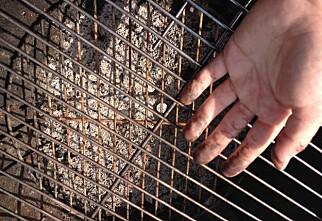 Skinnende ren grill, uten vann og såpe