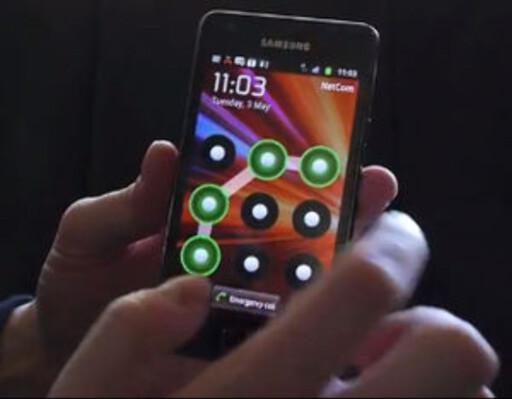 LÅS: Mønster er en av flere muligheter å velge blant når du skal låse en Android-telefon. Foto: PÅL JOAKIM OLSEN
