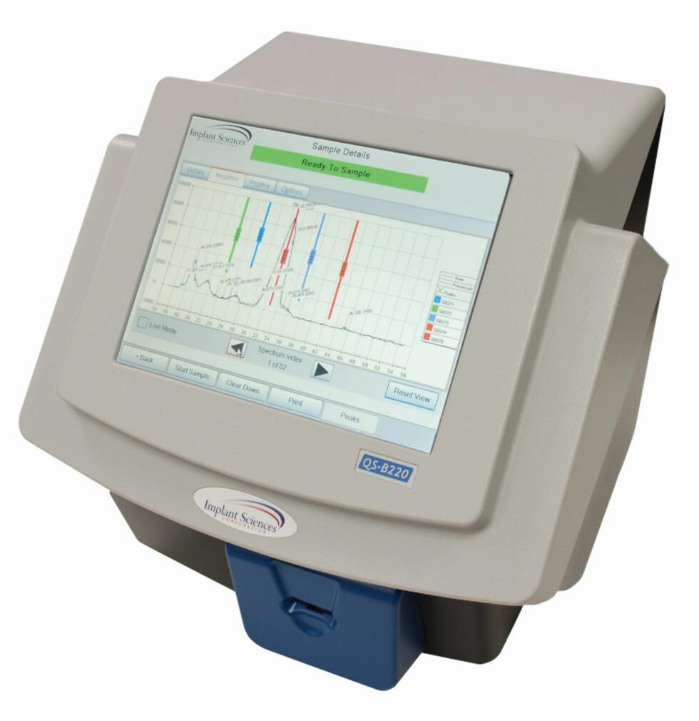 PARTIKKELDETEKTOR: Detektoren kan oppdage selv små mengder sprengstoff. Foto: AVINOR