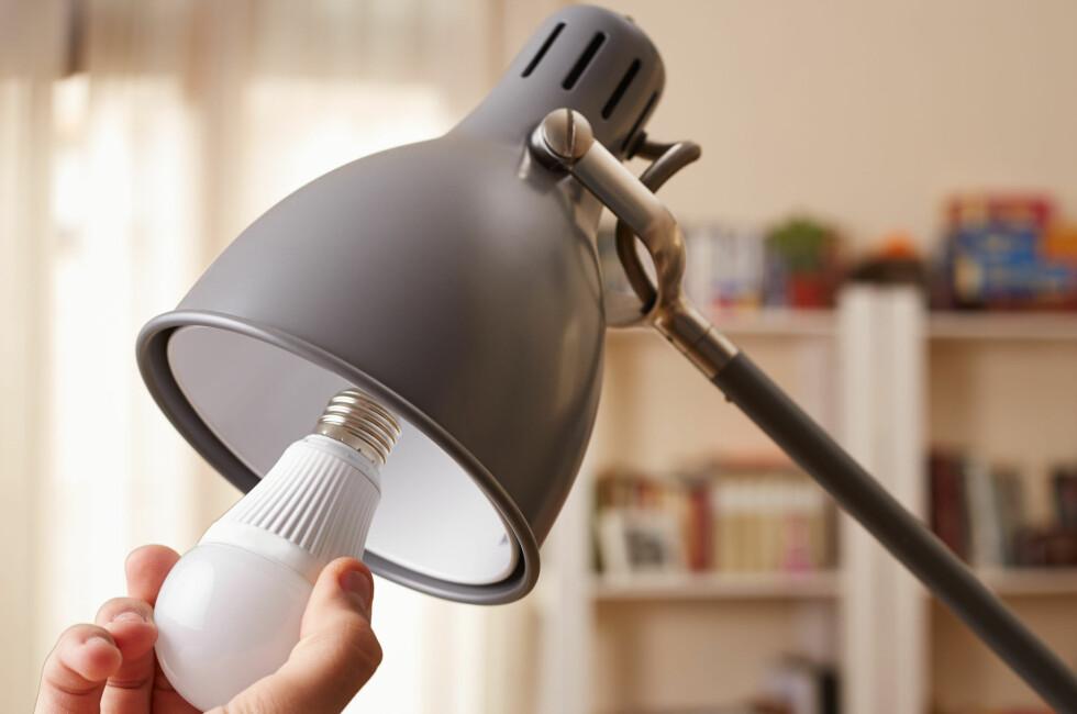 BYTTE TIL LED? Fem ting du bør sjekke før du kjøper. Foto: NTB SCANPIX
