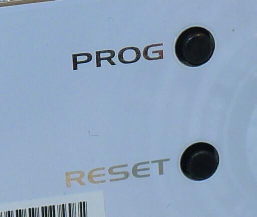 KNAPPER: For å skifte mellom standard- og HD-modus må du trykke på disse. Foto: TORE NESET