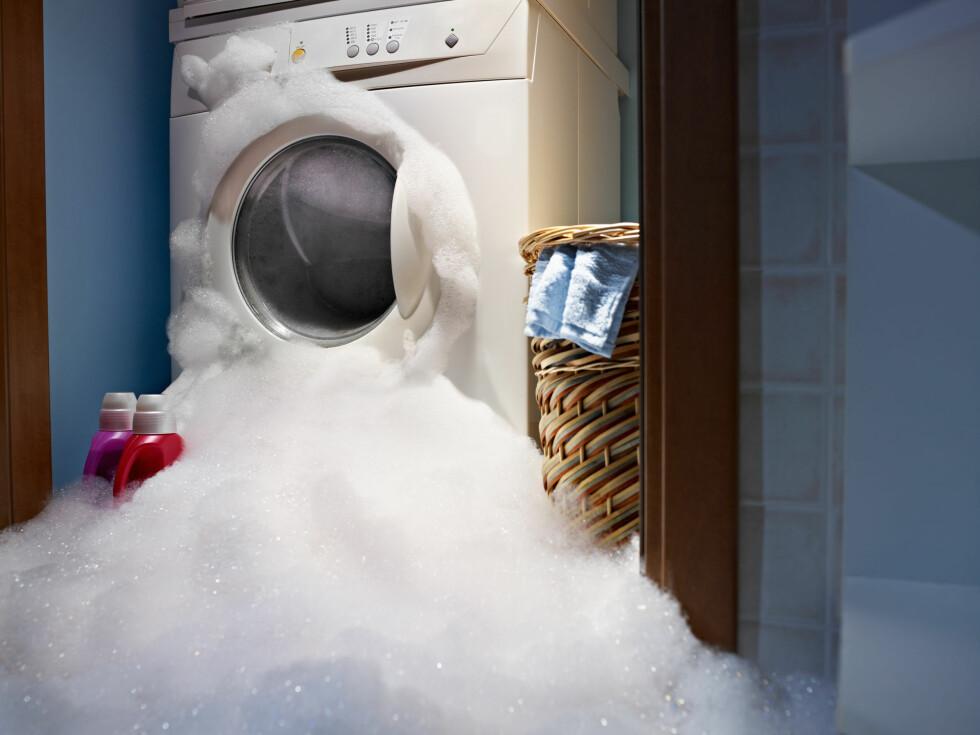 PASS DOSERINGEN! Les på forpakningen og følg angitt dosering. Klærne blir ikke renere av mer vaskemiddel. Foto: NTB SCANPIX