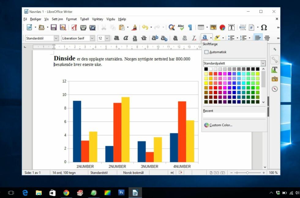 Gratis og norsk: LibreOffice 5.0 kommer også i norsk språkdrakt og med norske ordlister.
