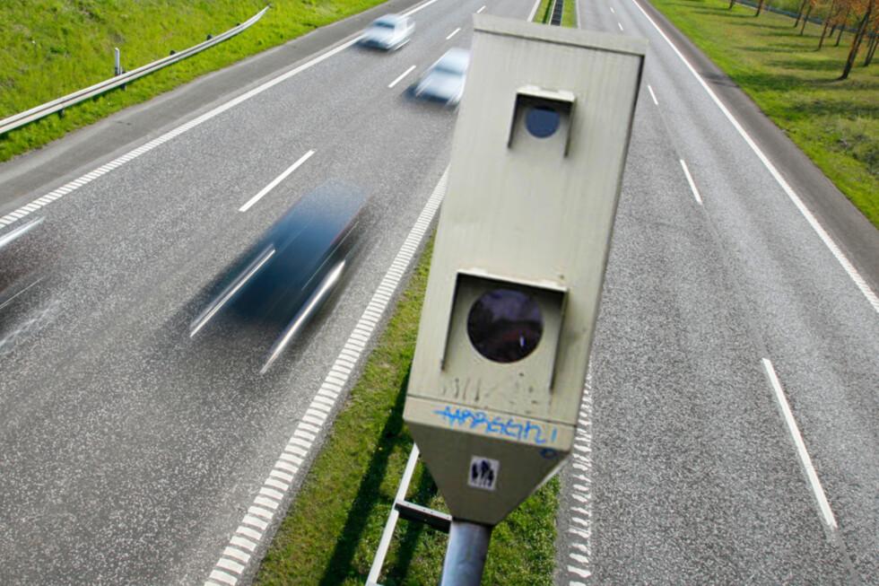 FLER: Fartsbokser gjør at farten går ned når bilistene passerer, men gir ofte en ketchup-effekt fordi bilistene gasser på når de har kjørt forbi. Men med gjennomsnittsmåling hjelper ikke det.   Foto: BERIT B. NJARGA