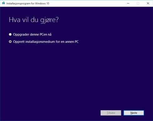 Last ned fullversjonen av Windows 10