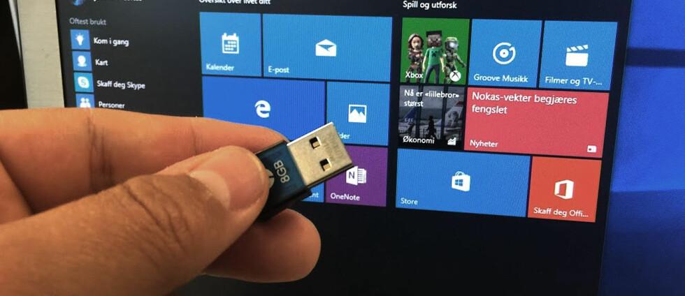Praktisk: Ønsker du å installere Windows 10 fra bunnen av? Nå lar Microsoft deg laste ned fullversjonen slik at du kan lage installasjonsmedium selv. Foto: Bjørn Eirik Loftås