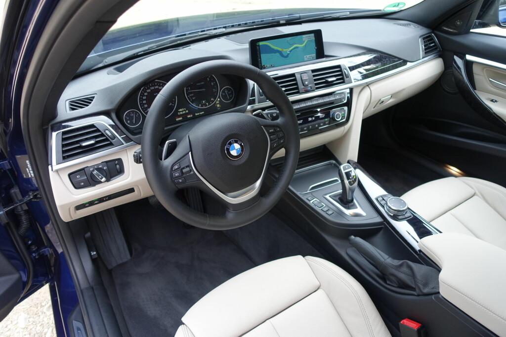 LETT PYNTET: Ingen BMW-kjenner vil føle seg i ukjent territorium her.Bare detaljendringer er foretatt. Foto: KNUT MOBERG