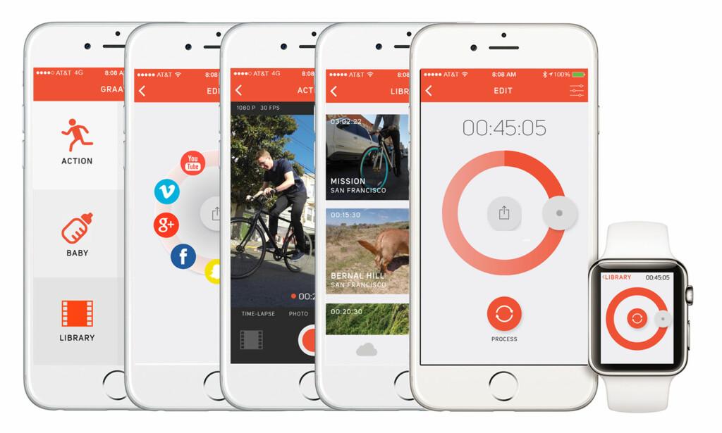APPER: Appen på iOS og Android gir deg kontrollen på hvor lang video du vil enda opp med. Den andre lar deg bruke Graava som overvåkingskamera eller dashcam.
