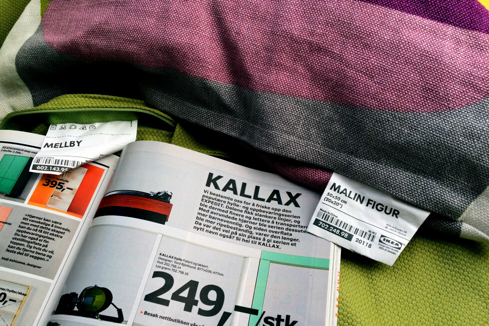 TILFELDIG? NEPPE! Et eget team hos Ikea jobber med navn - og de har en liste med navn klare til bruk for kommende Ikea-produkter. Foto: KRISTIN SØRDAL