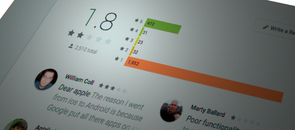 SLAKTES: Apples første Android-app får hard medfart fra brukerne, men ikke nødvendigvis fordi den ikke gjør den den skal … Foto: PÅL JOAKIM OLSEN