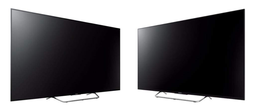 <b>SER DU FORSKJELL?</b> Det gjør nesten ikke vi heller,  men til venstre har du X8505C og til høyre har W805C. Foto: SONY