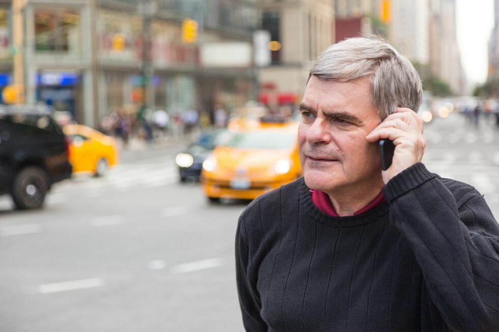 OH, MAN: Å ringe hjem fra USA kan bli dyrt. Et kvarter med Netcom koster deg for eksempel 120,74 kroner. Foto: FOTOLIA / NTB SCANPIX