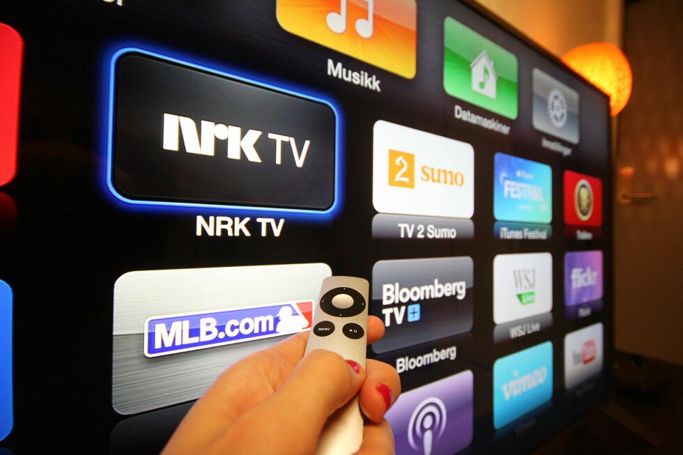ALTERNATIV: Selv om du sier opp NRK-lisensen har du mange muligheter til å se TV-sendingene, som denne Apple TV-appen.  Foto: KIRSTI ØSTVANG