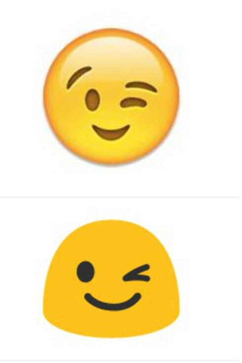 FLØRT?  Blunkefjeset er en av smilefjesene som blir mest brukt. Tenker du over at det betyr å smile lurt eller at du flørter? Foto: HANNA SIKKELAND